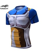 2017 Men 3D Dragon Ball Z T Shirt Vegeta Goku Super Saiyan Tee Shirt Fit... - $26.99