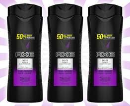 3 AXE Excite Crisp Coconut & Black Pepper Scent Body Wash Clean + Fired Up 24 OZ - $29.15