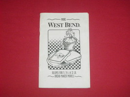 West Bend Bread Maker Machine Recipe Manual for model 41042W (OEM) - $12.19