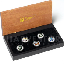 2012 PLATINUM DISCOVER AUSTRALIA COLORIZED PROOF 5-COIN SET - LAST SET MADE - $1,259.99