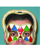Masquerade Carnival Mask Halloween Clown Mask Fancy Dress Harlequin Face... - $8.75