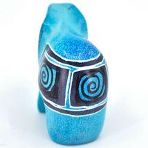 Crafts Caravan Hand Carved Sky Blue Soapstone Elephant Figurine Made in Kenya image 3