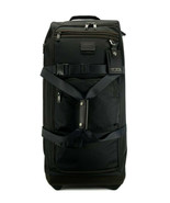 New TUMI 2-wheeled rolling duffel packing case travel bag luggage black hickory  - $484.99