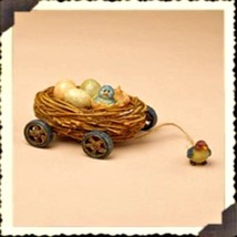 "Boyds Pull Toy  ""Tweeters Tug Along"" Resin Tug Along  -#654101 - 2004 - Retired - $29.99"