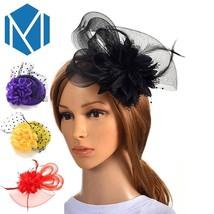 Feather Fascinator Handmade Elegant Bride Floral Hair Clip New Women Acc... - €8,58 EUR