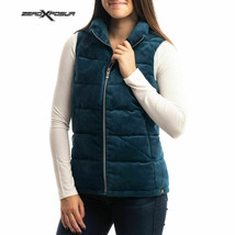 NWOT $70  ZeroXposur Women's Velour Puffer Vest Jacket in TEAL Peacock B... - $40.72