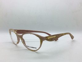 Dolce&Gabbana DG3173 2749 (53) Leaf Gold Rose Oval Opticals - $77.57