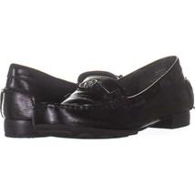Anne Klein Hulia Slip On Flat Loafers 133, Black Patent, 5 US - $23.99