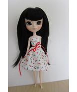 Pullip Jenny Momoko size Handmade Cotton & Lace Doll Dress Colorful Star... - $18.97