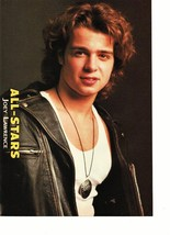 Joey Lawrence teen magazine pinup clipping circle necklace leather jacket buff