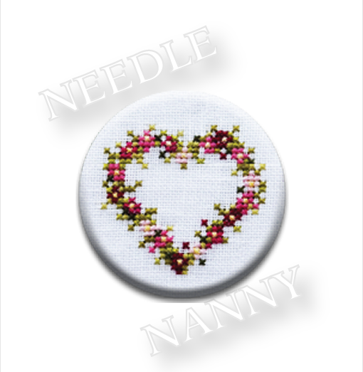 Heart Needle Nanny cross stitch JBW Designs