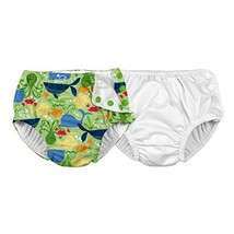 i play. Baby Reusable Swim Diaper, White/Lime Sealife, 12 Months Pack of 2 - £24.41 GBP