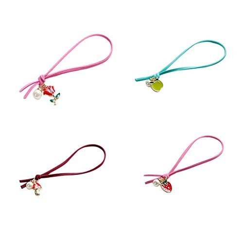 4 Pieces Of Christmas Fruit Hair Ring Hair Accessories