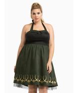NEW WOMENS PLUS SIZE 28W 4X GREEN MARVEL HER UNIVERSE LOKI DRESS COSPLAY... - $29.02