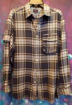 Rare 1999 Tommy Jeans Mens Button Up Long Sleeve Plaid Shirt Medium Deep... - $17.41