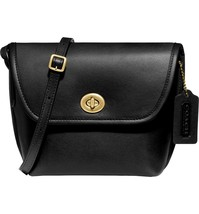 NWT Coach x Runway Turnlock Leather Crossbody Bag black/Brass - $375.00
