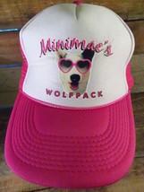 MINIMAC'S WolfPack Pink Mesh Trucker Snapback Adjustable Adult Hat Cap  - $5.93