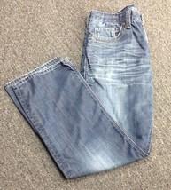 MAVI Men's Blue Flat Front 5 Pocket Whiskered Straight Leg Jean Sz 34 32... - $49.49