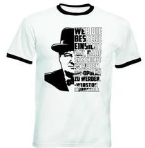 Winston Churchill Wer Die - BLACK RINGER COTTON TSHIRT - $19.53