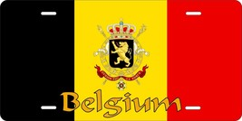 Belgium Flag License Plate Personalized Car Auto Bike Moped Motorcycle - $10.99+
