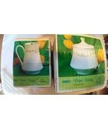Sheffield Fine China Japan Elegance 502 Creamer pitcher sugar bowl flowe... - $28.01