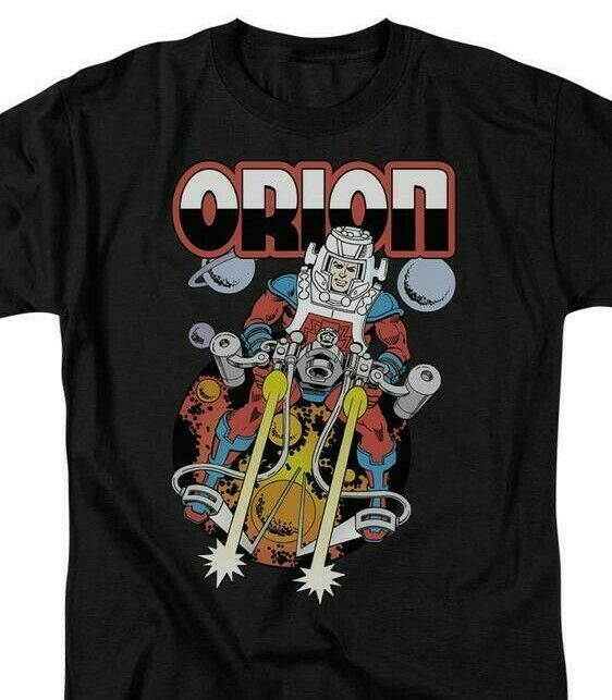 Orion T-shirt retro DC comics villians Superman superfriends black cotton DCO324