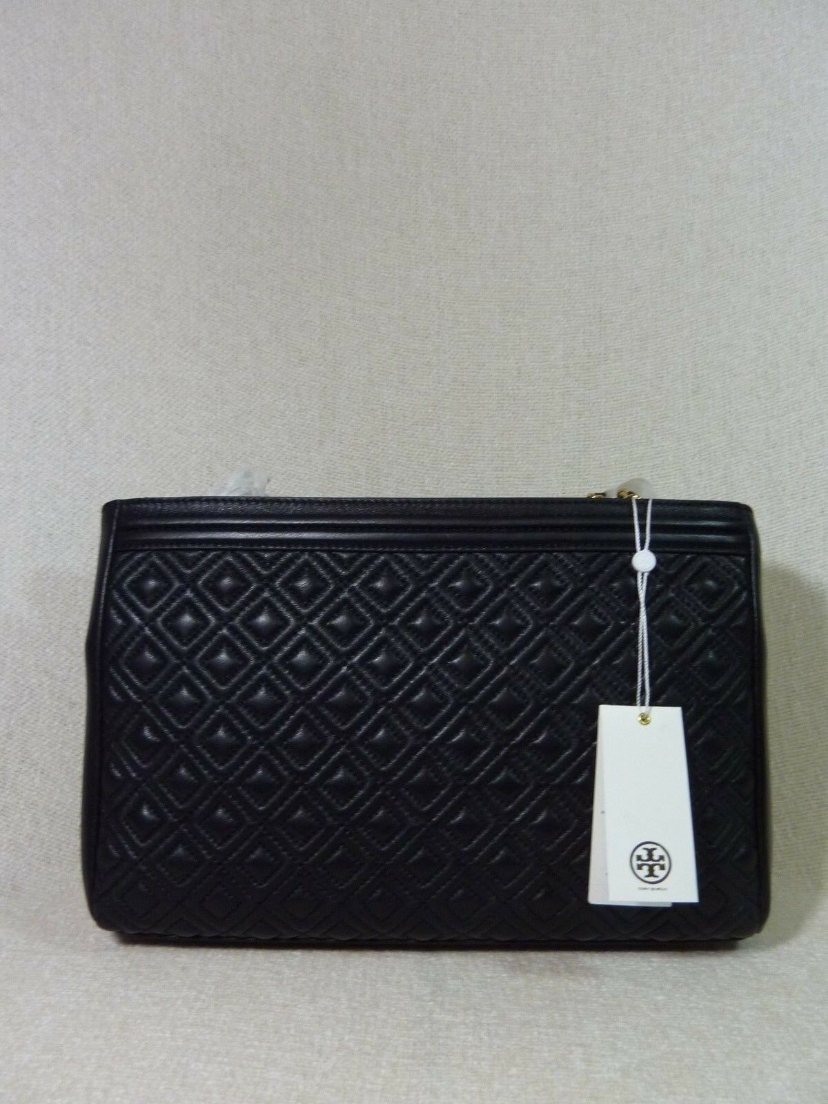 NWT Tory Burch Black Fleming Open Shoulder Tote image 8