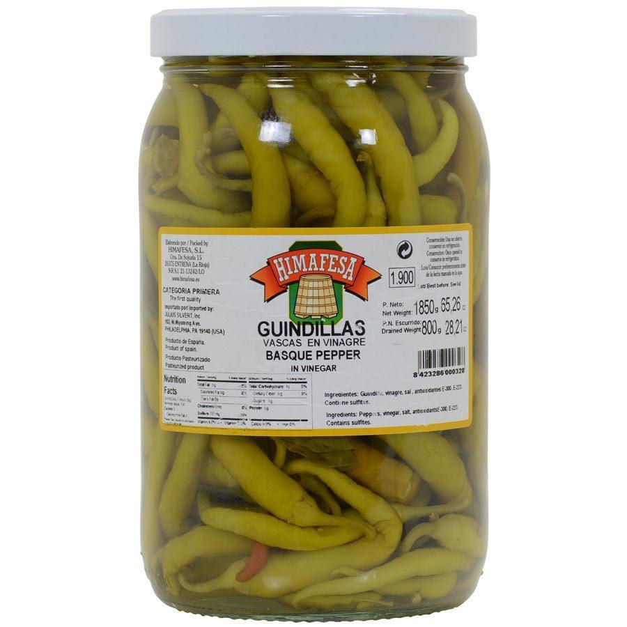 Guindillas Basque Green Peppers in Brine - 4 x 64 oz jar - $121.13