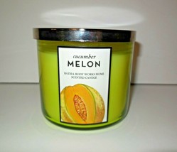 Bath & Body Works new 3 Wick Candle Cucumber MELON Glass Jar with Lid 14.5 oz - $65.00