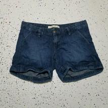Old Navy Women's Denim Blue Jean Shorts ~ Sz 6 ~ Lowest Rise ~ Mid Length ~ Cuff - $14.84