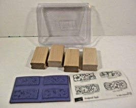 Stampin Up Rubber Stamps 2004 Lot Of 4 Flower / Vine Theme - $12.19