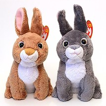 Fields and Orchard Easter Bunnies Ty Beanie Babies Set of 2 MWMT Retired... - $34.65
