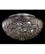 Clear Glass Ceiling Light Fixture Pan Globe Sha... - $11.95