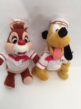 "Lot Of 2 Dale & Pluto 9"" Disney Cruise Line Plush Stuffed Animals - ue - $9.90"