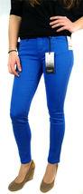 Kensie Jeans Women's Premium Skinny Slim Fit Ankle Biter Pants Blue Stone image 4