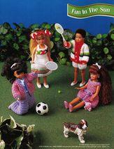 "7-1/2"" Fashion Doll Beach Playtime Summer Teatime Slumber Party Crochet Pattern image 7"