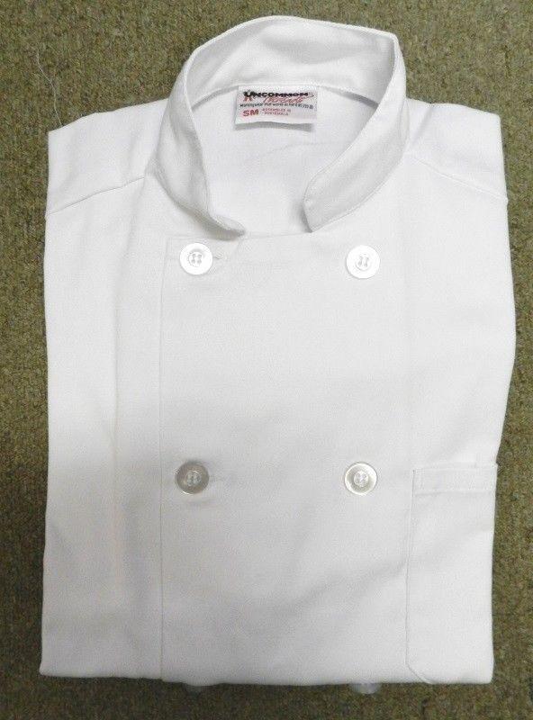 Chef Jacket L Uncommon Threads 415 White Short Sleeve Coat Uniform Unisex New image 3