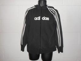Vintage Adidas Spellout Full Zip Hoodie Hooded Sweatshirt Fits Large - $19.99