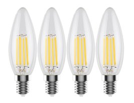 Urbanest C32 E12 LED Filament Edison-Style Light Bulb, 4 Watt 60W Equiva... - $15.83