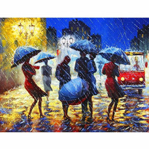 "Rainy Street 16X20"" Paint By Number Kit DIY Acrylic Painting on Canvas F... - $8.90"