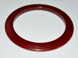 Cherry Amber BAKELITE TESTED Disc Disk Bangle Bracelet Vintage - $74.24
