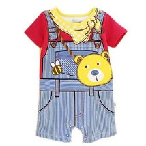 Bear Overall Cute Baby Onesies Infant Creeping Bodysuit Toddlers Climbing Romper