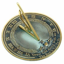 Brass Sundial: Outdoor Decor 10 in Diameter Easy to Assemble - $135.90