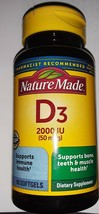 Nature Made Vitamin D With D3 90 Softgels Supports Immune Health New Unopened - $15.83