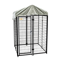 Welded Wire Dog Fence Kennel Kit Cover Outdoor Pet House Cage Playpen  4... - $203.36