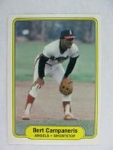 Bert Campaneris California Angels 1982 Fleer Baseball Card 454 - $0.98