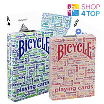 2 BICYCLE TABLE TALK BLUE AND RED PLAYING STANDARD INDEX CARDS DECKS USA... - $12.76