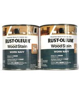 2 Cans Rust-Oleum Ultimate Wood Stain Worn Navy Dries in 1 Hour 2 Quart ... - $30.99