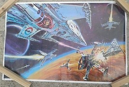 True Vintage 1978 Dan Goozee Sci-Fi Space Poster Thought Factory - $34.20