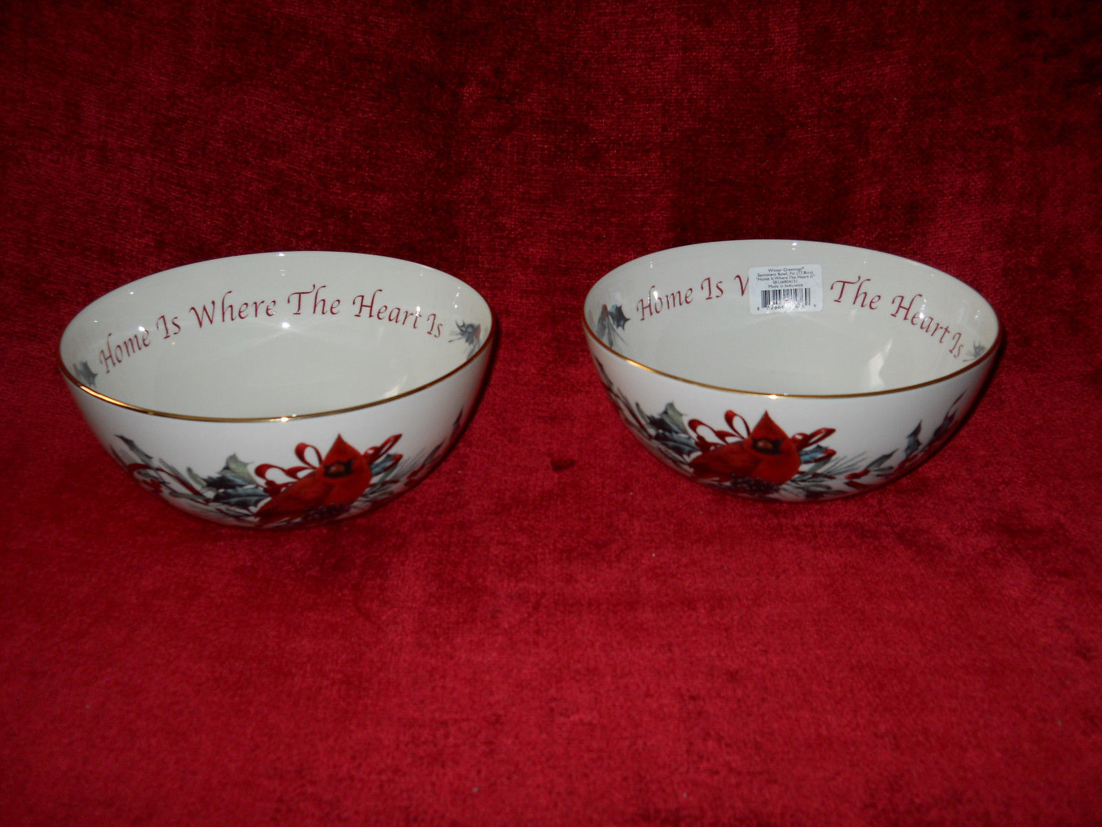 Lenox winter greetings bone set of 2 and 50 similar items lenox winter greetings bone set of 2 sentiment bowls home is where 7 14 m4hsunfo